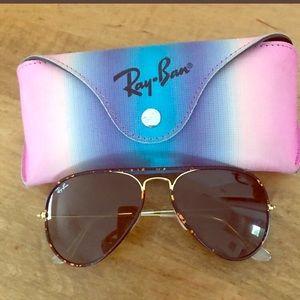 Tortoiseshell RayBan Aviator Sunglasses